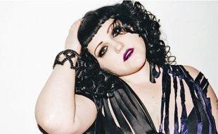 Beth Ditto, chanteuse de Gossip, en solo, dans la nuit de samedi.