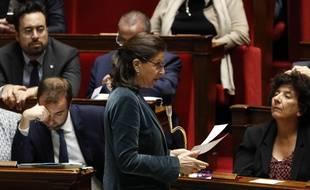 La ministre de Santé Agnès Buzyn, s'exprime devant l'Assemblée nationale le 19 mars 2019.