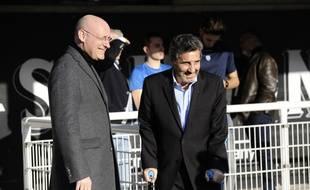 Bernard Laporte et Mohed Altrad à Montpellier le 19 février 2020.
