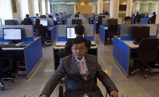 Un étudiant en informatique à Pyongyang le 8 janvier 2013.