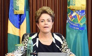 La présidente brésilienne Dilma Rousseff, le 3 décembre 2015 à Brasilia