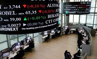 La salle des marchés d'Euronext à La Défense, près de Paris, le 12 novembre 2015