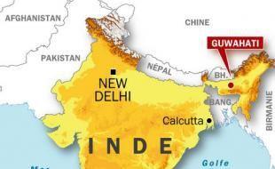 Onze bombes ont explosé en même temps dans l'Etat d'Assam en Inde jeudi 30 octobre 2008