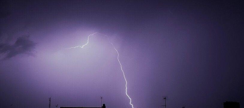 Un orage à Tours en 2018. (illustration)