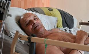 Dijon (Côte-d'Or), le 12 Août 2020. Alain Cocq a décidé de cesser de s'alimenter et de s'hydrater pour pouvoir bénéficier d'une euthanasie active.