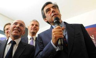Eric Ciotti (premier plan à gauche) et François Fillon (à droite), le 18 septembre à Paris.
