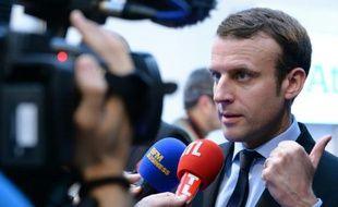 Emmanuel Macron, ministre de l'Economie lors de la présentation du supercalculateur Bull Sequana du groupe Atos, le 12 avril à Paris