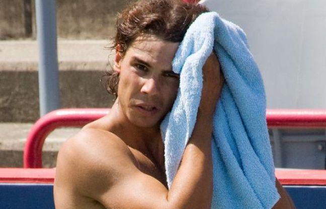 Le tennisman espagnol Rafael Nadal, lors d'un entraînement à Montréal, le 7 août 2009.