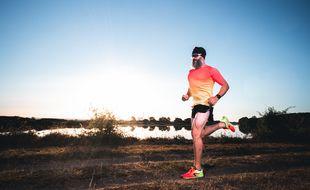Dany Perray sur l'épreuve de course à pied.