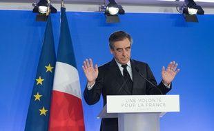 François Fillon après les résultats du premier tour de la présidentielle, le 23 avril 2017.
