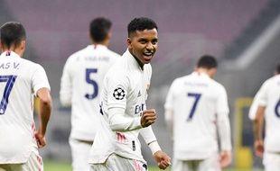Rodrygo a inscrit le second but du Real Madrid face à l'Inter Milan, le 25 novembre 2020.