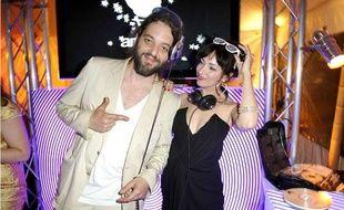 Beatrice Ardisson à la villa Scheppes pour la soirée Paris Premiere à Cannes le 13 mai.
