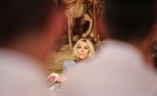 Brigitte Macron à l'Elysée le 29 septembre 2017.