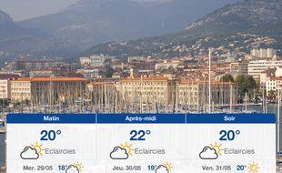 Météo Toulon: Prévisions du mardi 28 mai 2019
