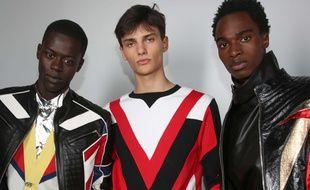 Olivier Rousteing, le directeur artistique de la maison de couture Balmain, s'est inspiré du vestiaire du Roi de la pop, Michael Jackson, pour sa collection homme printemps-été 2019.