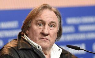 Gérard Depardieu à la conférence de presse du film «Saint-Amour» au Festival de Berlin, le 19 février 2016.
