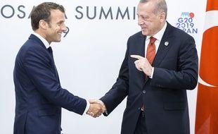 Emmanuel Macron et Recep Tayyip Erdogan, le 26 juin 2019