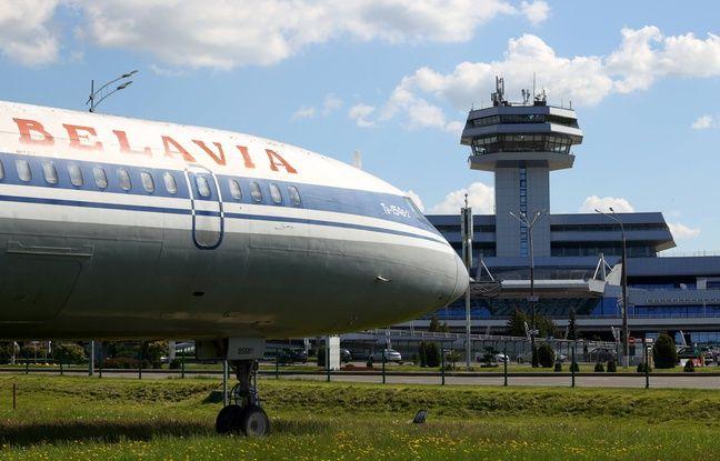 648x415 un avion de la compagnie bielorusse belavia a l aeroport de minsk le 24 mai 2021