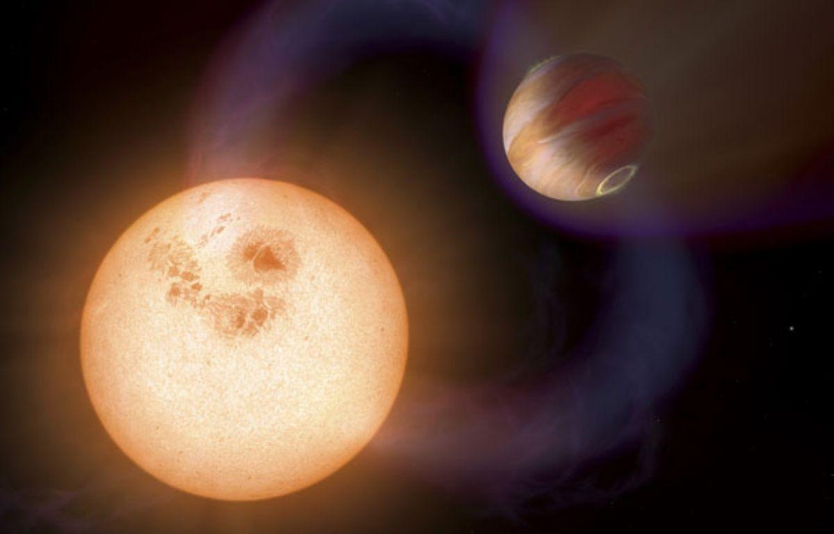 Deux exoplanètes découvertes par le téléscope Hubble. – A. Schaller (STScI)/N.A.S.A./E.S.A./SIPA