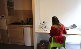 Dans une chambre universitaire de Toulouse. Illustration.