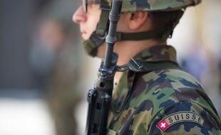 Illustration d'un soldat suisse.