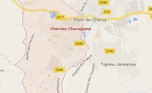 La commune de Charvieu-Chavagneux, en Isère.