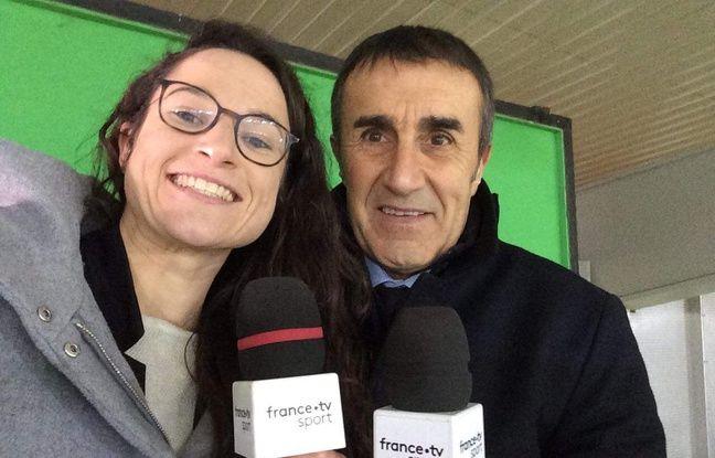 La Nordiste Laura Di Muzio, en compagnie du journaliste Jean Abeilhou.