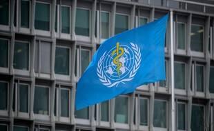 Le drapeau de l'OMS, à Genève. (illustration)