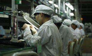 Une usine Foxconn fabriquant des iPhone pour Apple en Chine (illustration).