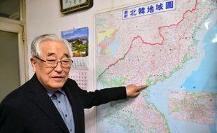 Shim Goo-Seob, président de l'association des familles divisées par la guerre de Corée, à Séoul le 29 octobre 2015