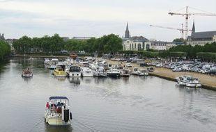 Le canal Saint-Félix à Nantes peut accueillir 50 bateaux de plaisance.