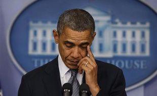 Barack Obama réagit à la tuerie de Newtown (Connecticut), le 14 décembre 2012.