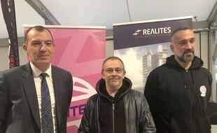 Yoann Joubert, Arnaud Ponroy et Guillaume Saurina, coach du NAHB.