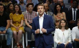 Emmanuel Macron à la Mutualité, le 12 juillet 2016 à Paris