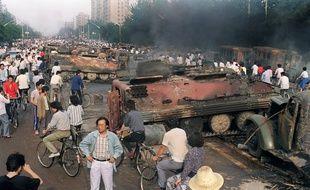 Le 4 juin 1989, à proximité de la place Tiananmen