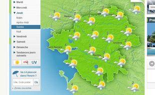 Quelques flocons sont prévus jeudi, à partir de la fin d'après-midi, sur la Loire-Atlantique.