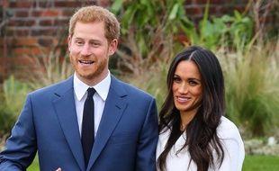 Le prince Harry et sa fiancée, l'actrice Meghan Markle.