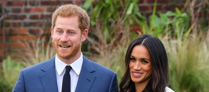 Le prince Harry et sa fiancée, l'actrice Meghan Markle
