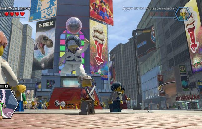 Bienvenue à Lego City, mélange de grandes villes américaines. Ici, Time Square façon Lego.