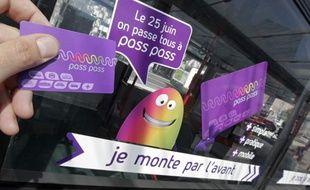 La carte de paiement sans contact de l'opérateur de transport de service public de la métropole lilloise Transpole.