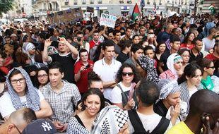 Manifestation de soutien au peuple palestinien à Paris, le 19 juillet 2014.