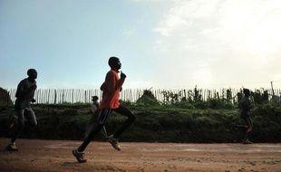 Des athlètes à l'entraînement dans l'un des villages du Nord du Kenya.