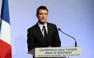 Le Premier ministre Manuel Valls, le 15 octobre 2015 à Paris