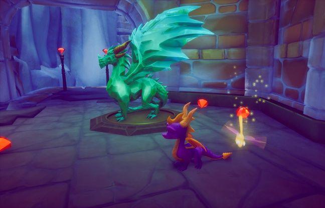 Dans le premier épisode, Spyro devra secourir des dragons pétrifiés... et collecter un grand nombre de gemmes.