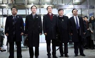 Une délégation de la Corée du Sud a rencontré des représentants de la Corée du Nord le 9 janvier 2018.