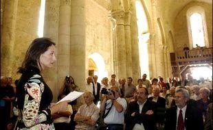 Ségolène Royal lors du lancement des Nuits Romanes en 2006.