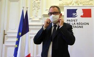 Le nouveau préfet d'Ille-et-Vilaine et de Bretagne Emmanuel Berthier, ici le 17 novembre 2020 à Rennes.