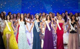 Les finalistes du concours Miss Monde 2012.