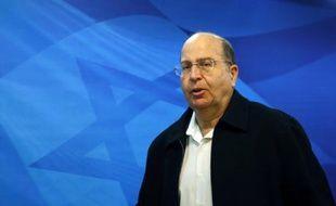Le ministre israélien de la Défense Moshé Yaalon le 16 novembre 2014 à Jérusalem