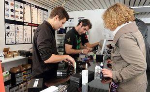 Photo d'illustration - Boutique de cigarettes électroniques